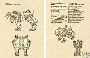 Combiner Decepticon Transformers GRIMLOCK US Patent Art Print READY TO FRAME
