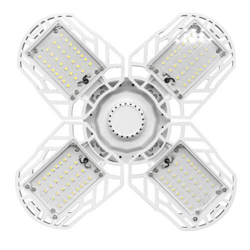 E27 60//90//120W LED Garage Light Bulb Deformable Ceiling Fixture Workshop Lamp U