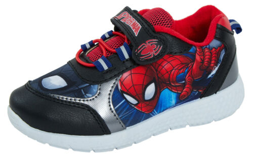 Boys Spiderman Sports Trainers Kids Marvel Lightweight Running PE GYM Shoes Size
