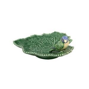 Bordallo Pinheiro Ragwort Leaf 19 With Blue Bird Platter