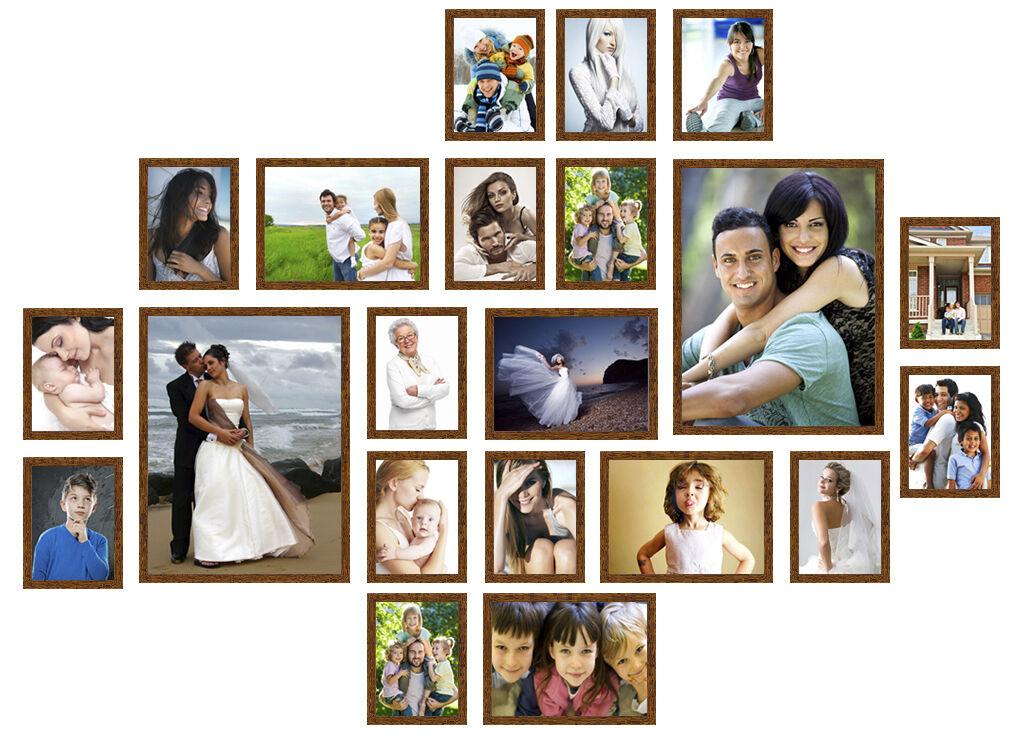 21er B 13x18 18x24 30x40 Bilderrahmen Foto Bild Wandgalerie Collage ...
