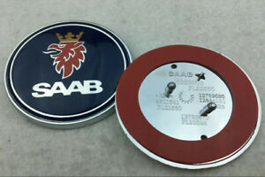 68mm-Auto-Auto-Fronthaube-Emblem-Abziehbild-Abzeichen-schwarz-Logo-fuer-SAAB