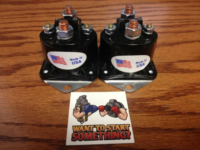 2 NEW U.S.A WINCH SOLENOID WARN 12 VOLT HEAVY DUTY 28396 72631 FAST SHIPPING!