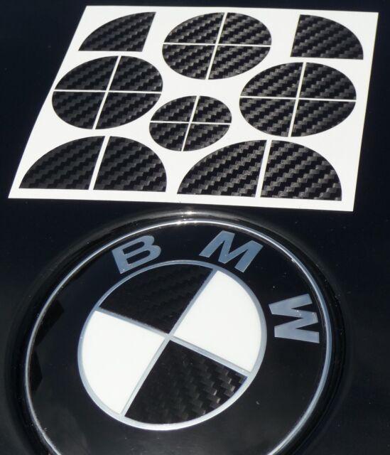 3D CARBON AUFKLEBER Emblem ECKEN DEKOR für alle BMW 1er 3er 5er usw.      01-05
