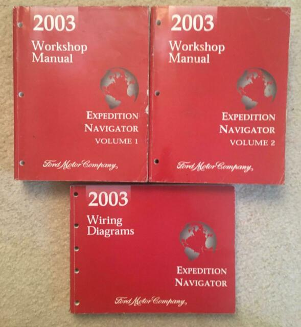 2003 Ford Expedition Navigator Workshop Manual  U0026 Wiring