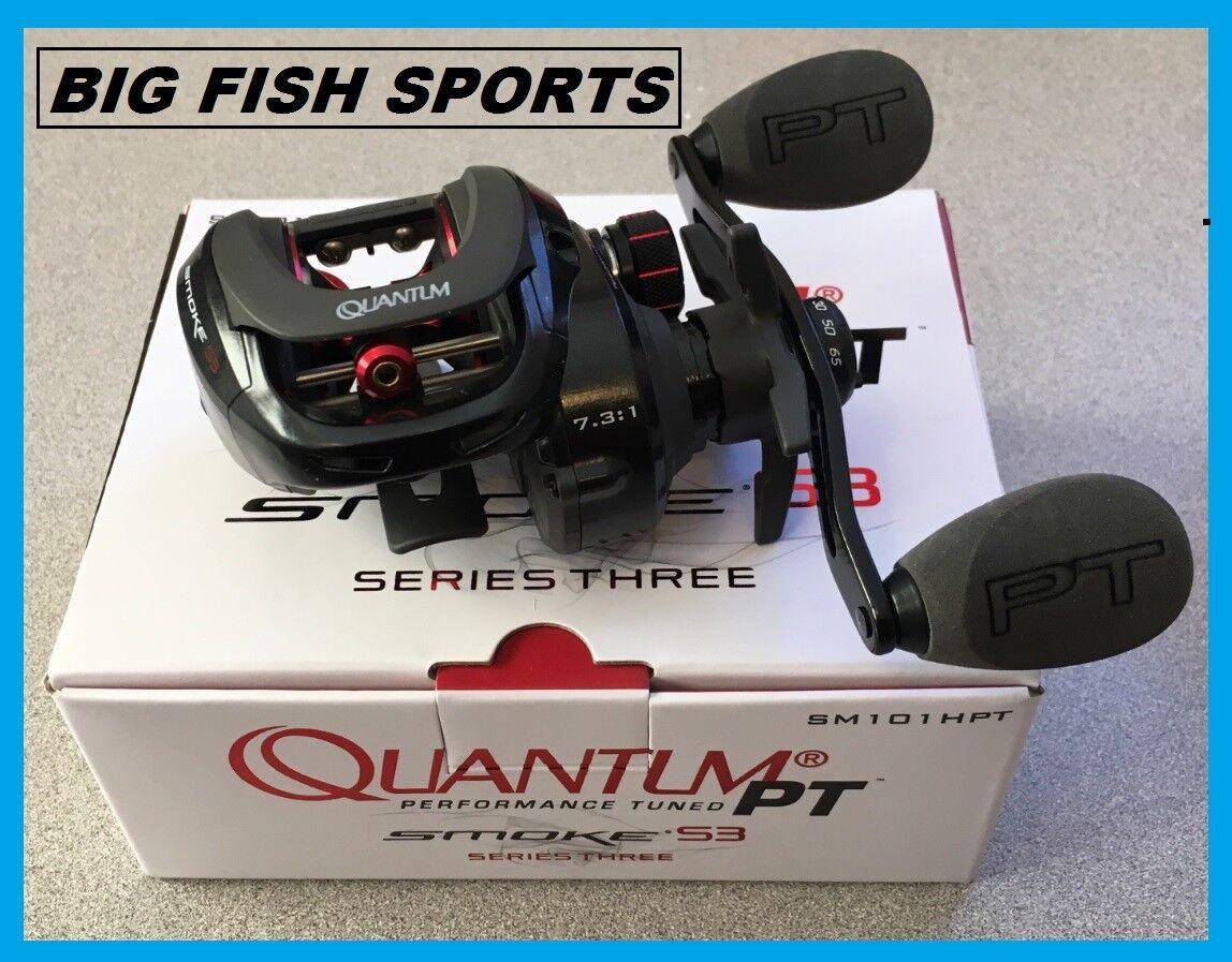 Quantum humo PT serie 3 Casting Reel de Pesca Mano Izquierda Nuevo SM101HPT 7.3  1