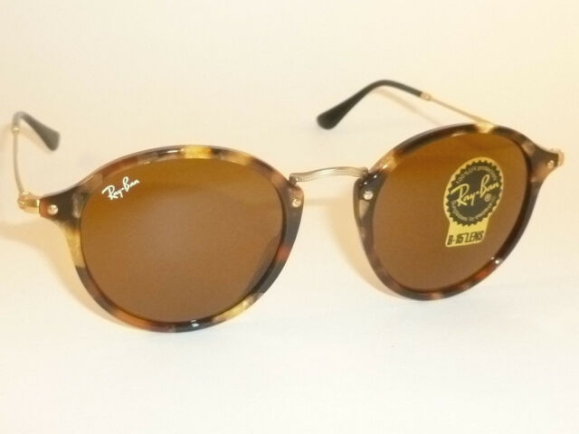289898101f Ray-Ban Round Fleck Tortoise and Gold L Brown Classic B-15 Rb2447 1160 49mm