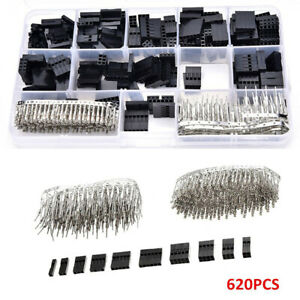 620pcs-2-54mm-DUPONT-TERMINALI-CONNETTORE-PIN-DI-MASCHIO-FEMMINA-CRIMPARE-KIT