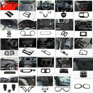 For 2018 Jeep Wrangler JL Interior Trim Accessories Cover Kit Carbon Fiber 43pcs