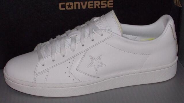 CONVERSE Pro Leather 76 Ox Men's White 155319c 8 SIZE 10.5 WHITE SKATE SHOE  NWB