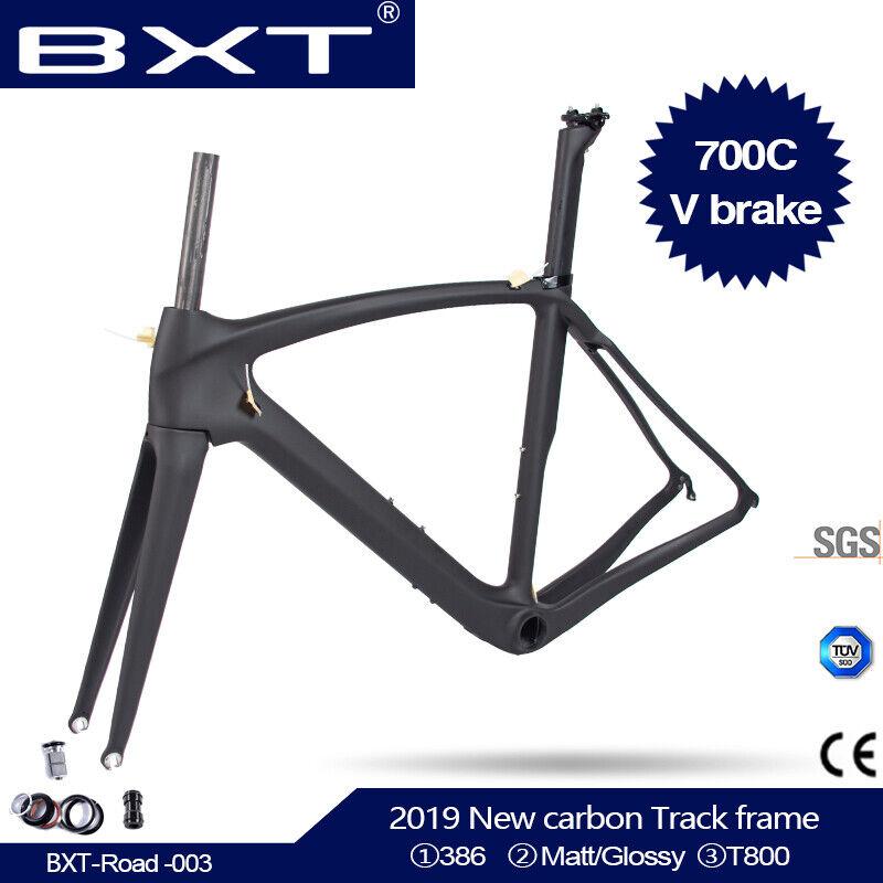 Aero 700C Road Bike Frame BB386  Racing Bicycle Carbon Frameset Fork Seatpost