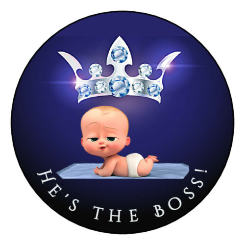 12 Favor Labels Boss Baby Baby Shower Birthday Thanks Personalize custom?