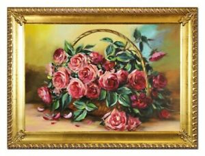 Oil-Painting-Pictures-Hand-Painted-with-Frame-Baroque-Art-G96526