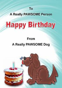 Image Is Loading CARTOON 039 FROM THE DOG BIRTHDAY CARD