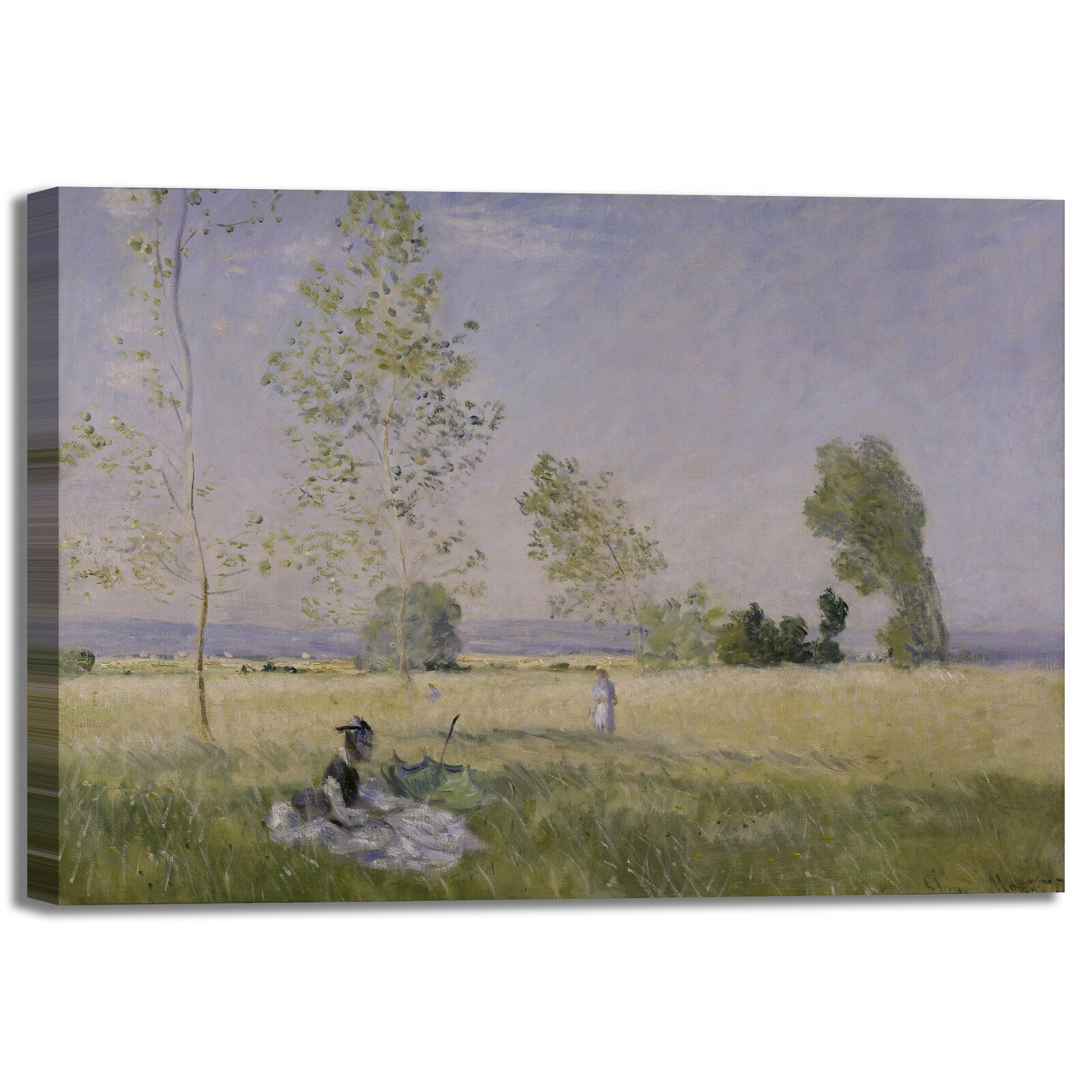 Monet estate design quadro stampa tela dipinto telaio arrossoo casa