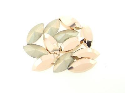 Swarovski Foiled Xilion Navette Stones Art.4228 15x7mm Rose Gold 12 Pieces cc