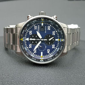 Citizen Eco Drive Ca0690 88l Aviator Chronograph Mens Watch 44mm Ebay