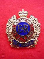 Royal Engineers RE Gilt/Enamel Army Cap/Beret Badge Military Lapel/Tie Pin New!
