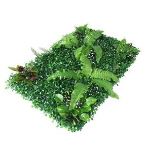 2 x Artificial Hedge Grass Plant Hedge Fake Vertical Garden Green Wall Ivy Mat F