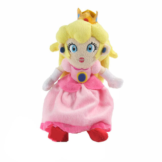 Super Mario Bros. Princess Peach Plush Doll Stuffed Toy Kid Gift 20cm Xmas