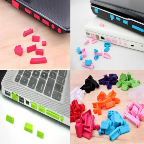 13 Protective Ports Cover Silicone Anti-Dust Plug Stopper for Laptop Notebook BH