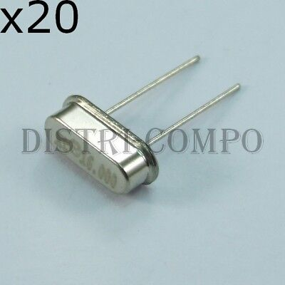 lot de 20 Quartz 10.000000Mhz 20PF 30PPM HC18 HC49U Shoulder