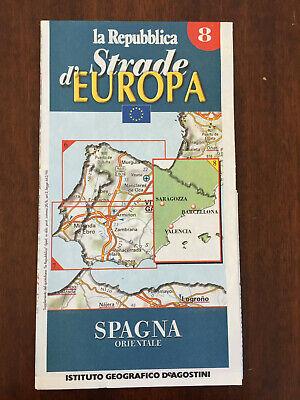 Mappa Spagna Orientale.Carta Stradale Spagna Orientale Istituto Geografico De Agostini 1999 Ebay