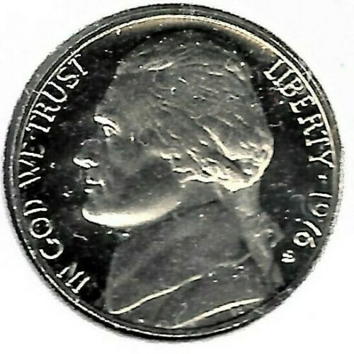 A Nice /& Shiny Proof Coin #7173 1976 S Jefferson Nickel Finish Your Coin Book