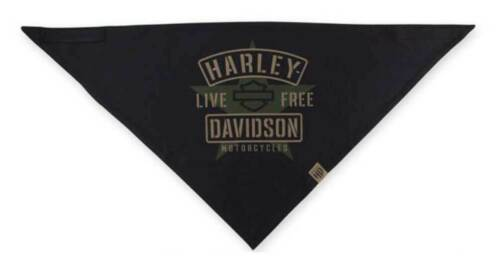 Harley-Davidson Men/'s 3-in-1 Convertible Military Star Bandana Black BAC34394