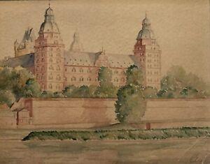 Mystery-Artist-Signed-English-School-Of-Art-Original-Painting-Quality