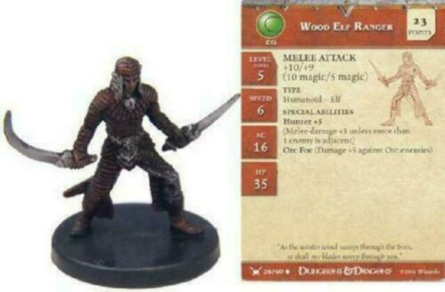 Legendary Adventures #24A Pathfinder Battles D/&D Mini x3 swords Elf Ranger