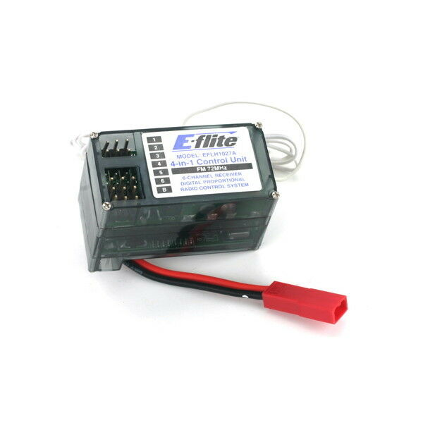 E-flite EFLH1027A 4-n-1 Control Unit, Rx ESC Mixer Gyro FM 72MHz BCP modellismo