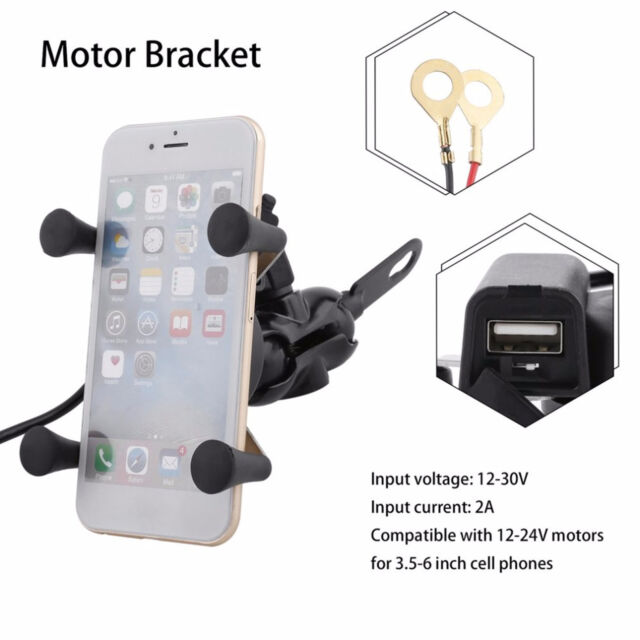 Navigation Frame USB Mobile Phone Holder Bracket For BMW