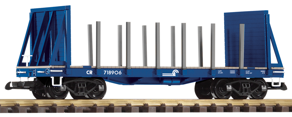 Piko G Scale nuovo PRODUCTS Two Pack of nuovo Bulkhead Flat autos DRGWConrail