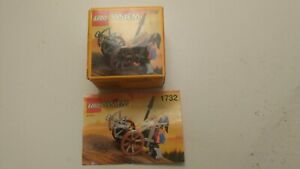 Vintage 1994 Lego 1732 Crossbow Cart 100% COMPLETE with Instructions and Box