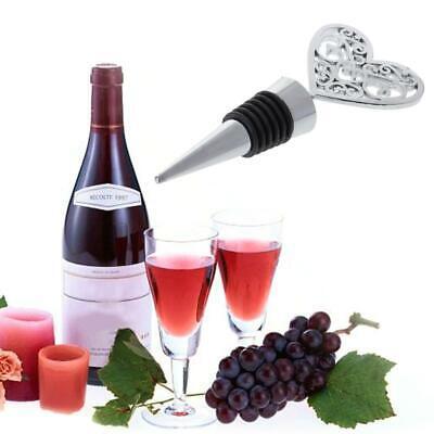 Elegant Love Heart Shaped Twist Thread Sealed Bottle Wine Stopper For Bar