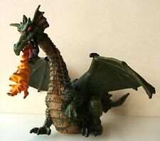 PAPO GREEN FIRE BREATHING DRAGON PLASTIC FIGURE MEDIEVAL KNIGHTS FANTASY MONSTER