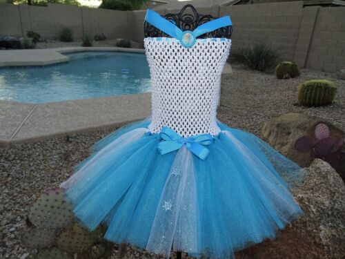 Disney/'s Frozen Elsa Tutu Dress Size 6 to 8 Yrs.