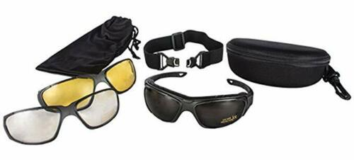 NEW Fox Outdoor Tactical Shooter/'s Eyewear Glasses Kit w Lenses and Case BLACK