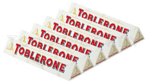 Details About 6 X Toblerone White Chocolate Bar With Honey Almond Nougat 100g 35oz