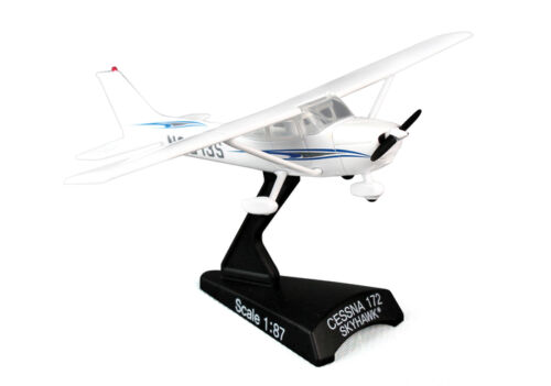 Postage Stamp PS5603-2 Cessna 172 Skyhawk Diecast 1/87 Private Model Airplane