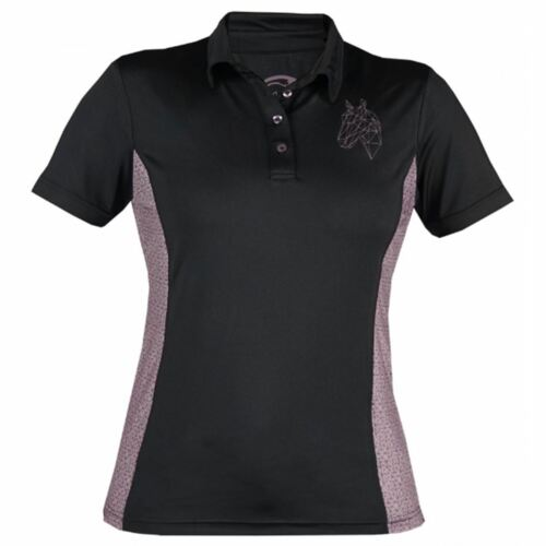 Stable Lyra Polo Riding Yard Black Comfortable Horka Breathable Shirts Ladies Horse x0FSnBwwqa
