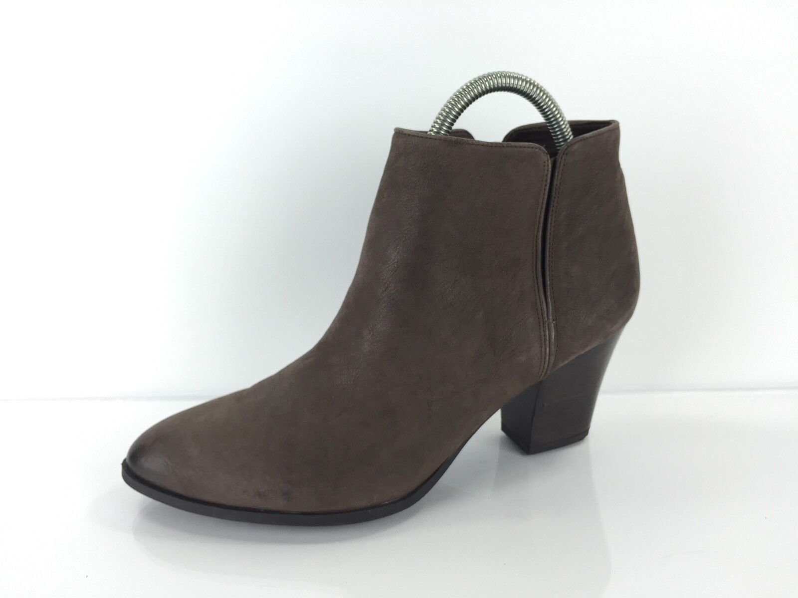 Franco Sarto Women's Dark Brown Leather Ankle Boots 11 M