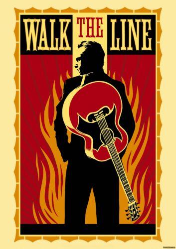 Johnny Cash 0085 Vintage Music Art Poster