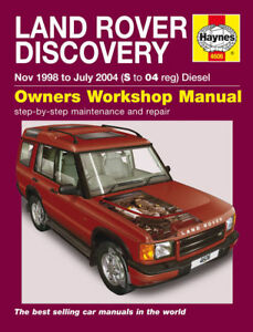 land rover discovery td5 diesel series 2 haynes manual 4606 new ebay rh ebay co uk land rover defender td5 workshop manual download land rover discovery 2 td5 workshop manual