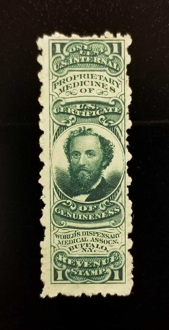 World's Dispensary 1c U.S. Internal Revenue RS272d Priv