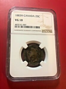 Canada-25-Cents-1883-H-NGC-VG-10