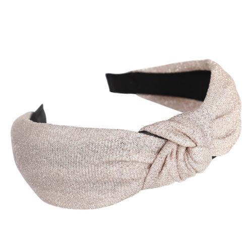 Women/'s Headband Twist Hairband Bow Knot Shiny Cross Hair Band Hoop Accessories