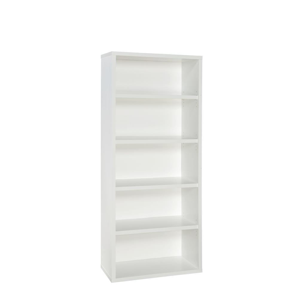 73  x 30  bianca Decorative 5 Shelf Unit Books Binders Storage Organizer Holder
