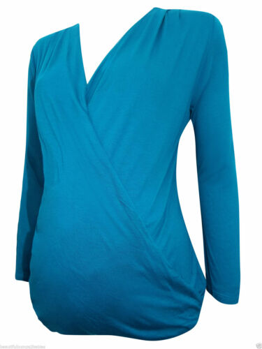 6 8 10 12 14 16 18 20 22 24 New Maternity TOP In Jade Teal Sizes